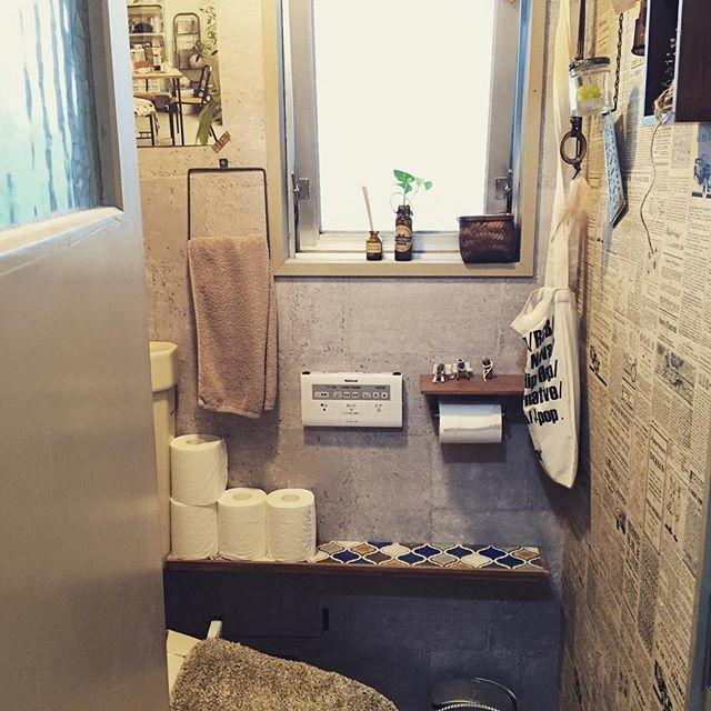 ブルックリンインテリアのトイレ