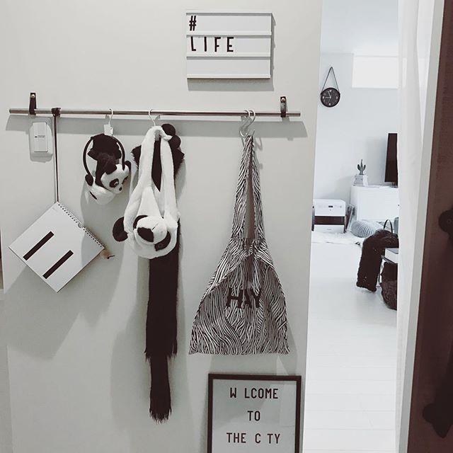 吊るす収納アイデア④ファッション類17