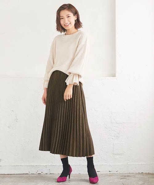 スエードタッチスカート2