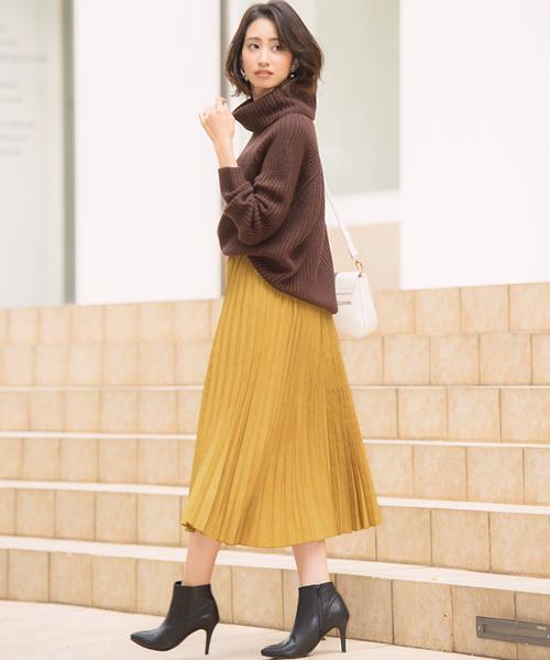 スエードタッチスカート
