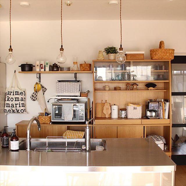 ステンレス仕様のアイランドキッチン4