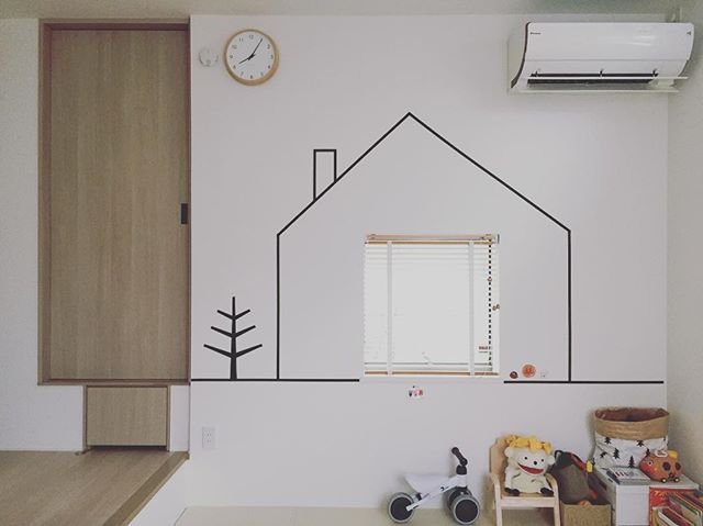 マスキングテープで壁を飾る5
