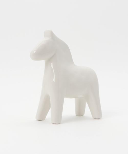 陶器の馬オブジェ
