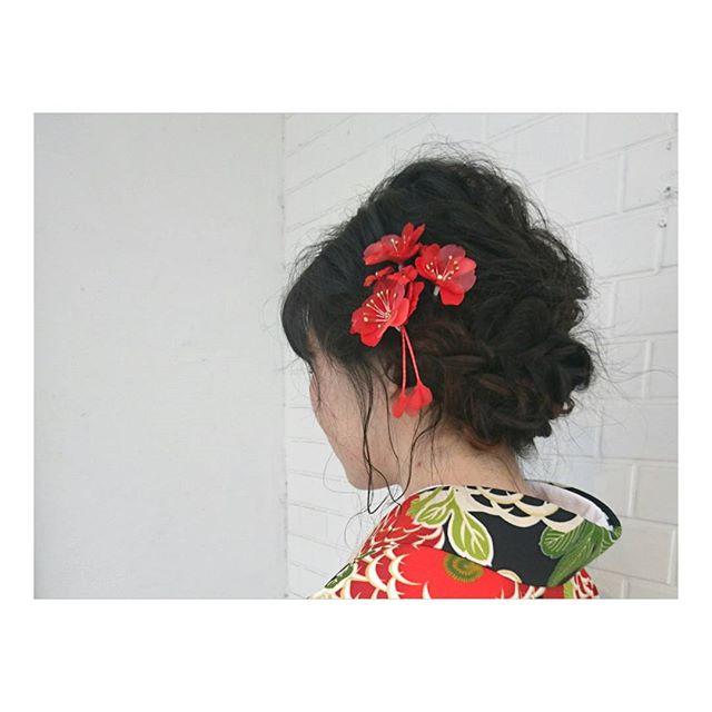 春の結婚式のお呼ばれヘアアレンジ14