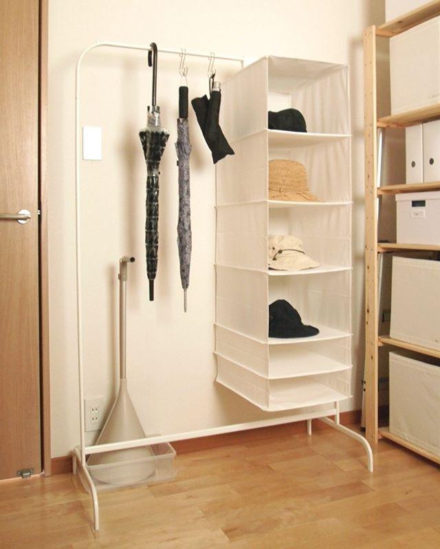 吊るす収納アイデア④ファッション類20