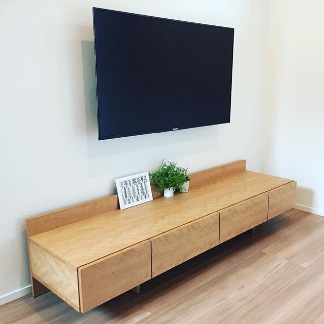 TVボードでモダンな空間