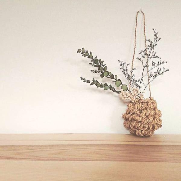 手編み カゴ