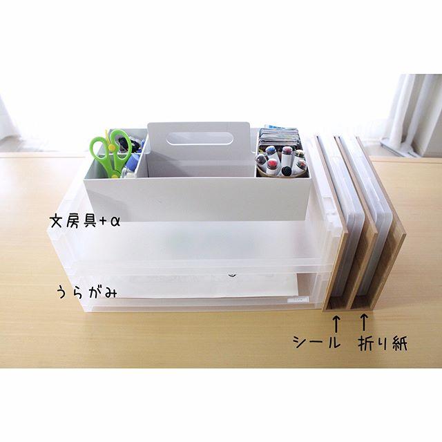 無印収納のおすすめ実例⑧文房具収納に便利なアイテム5