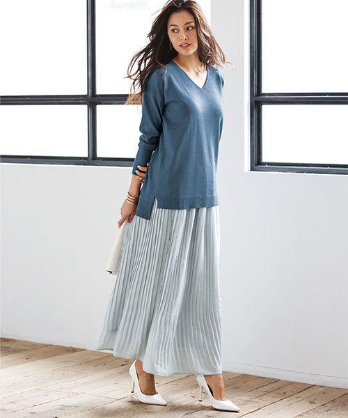[Ranan] ビンテージサテンプリーツスカート