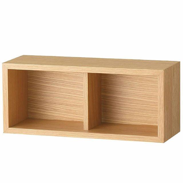 壁に付けられる家具 箱・2マス