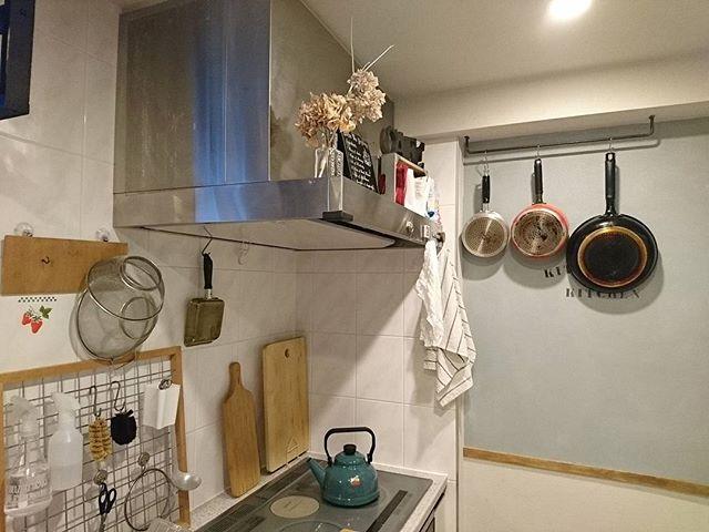 アイアンバー キッチン収納