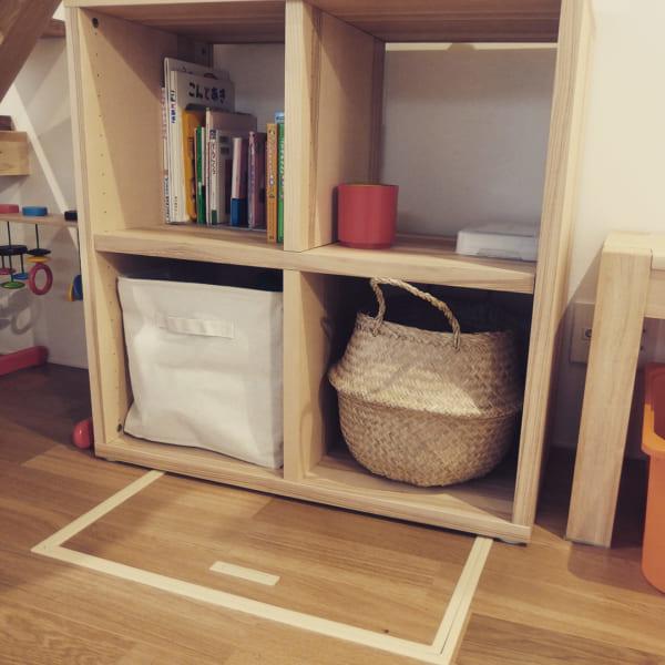 IKEAのアイテムを使用したおもちゃ収納60