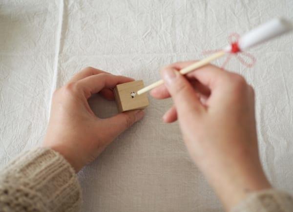 ひな祭りディプレイ DIY ぼんぼり 作り方4