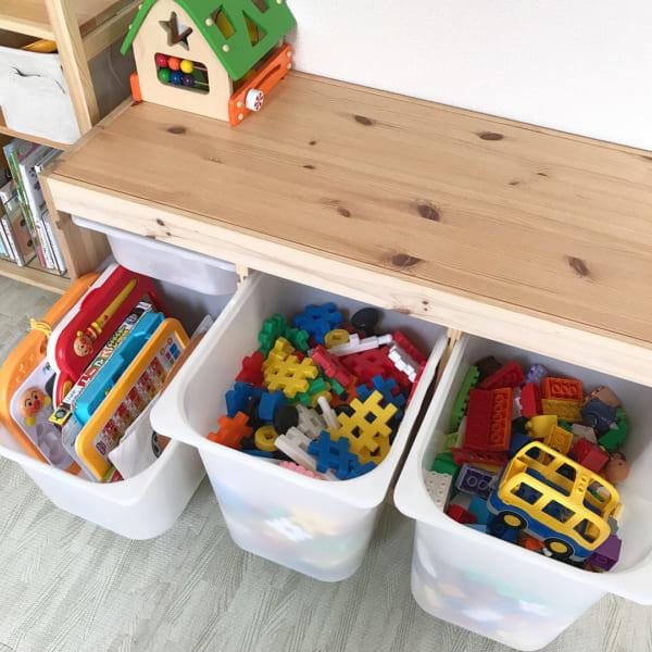 IKEAのアイテムを使用したおもちゃ収納33