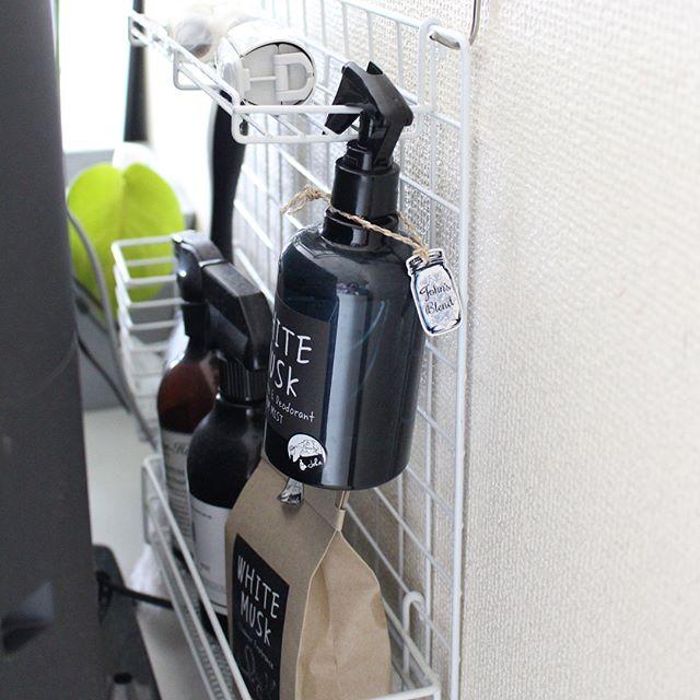 壁掛け収納DIY ワイヤーネット6