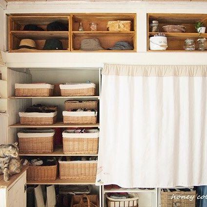 収納にはかごやボックスがおすすめ