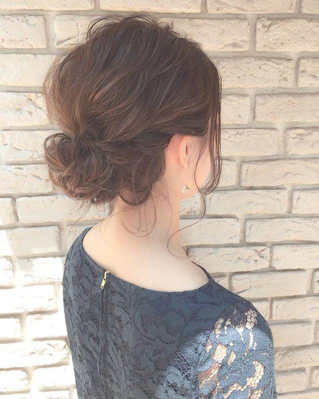 春の結婚式のお呼ばれヘアアレンジ12