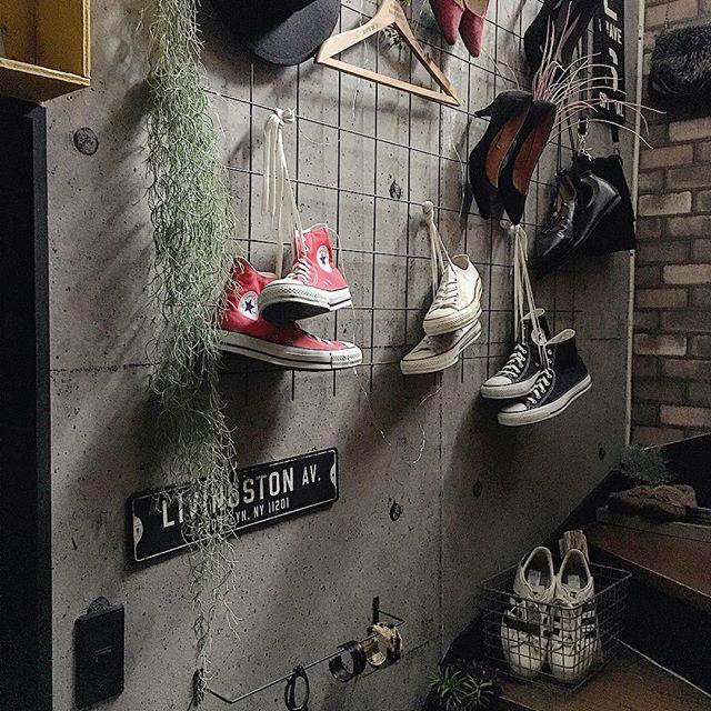 壁掛け収納 靴 鉄筋