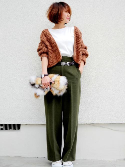 40代大人女子ファッション/パンツコーディネート10