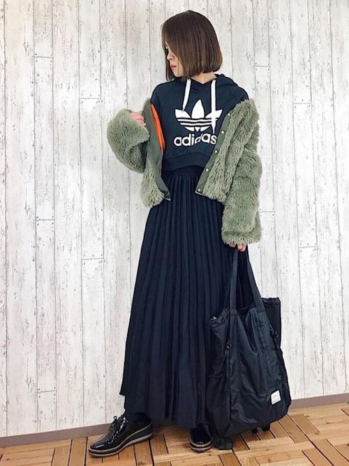 40代大人女子ファッション/スカートコーディネート9