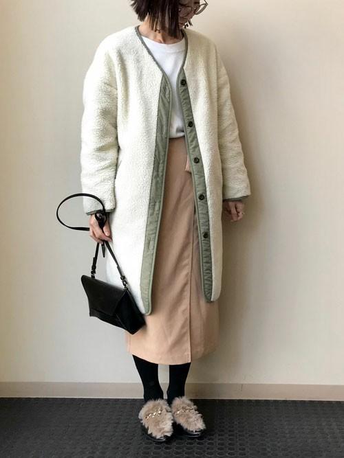 ミリタリーコート×スカート6