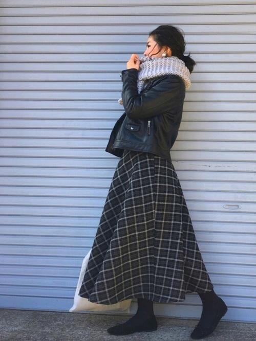 ZARAのスカート!チェック柄は大人ガーリーに装いたい♪3