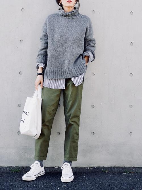 40代大人女子ファッション/パンツコーディネート19
