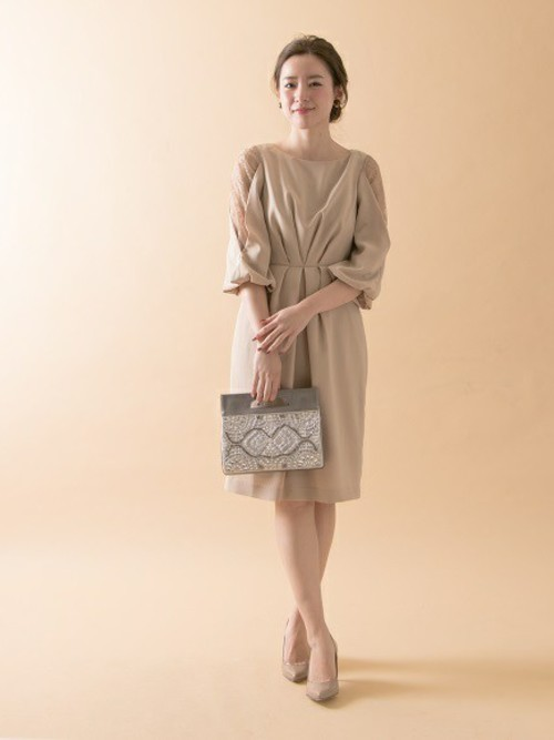 [URBAN RESEARCH] COUTURE MAISON アームレースワンピース