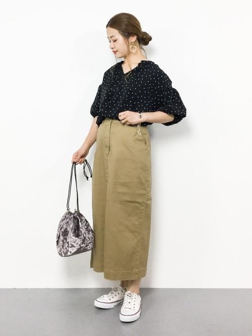 ストレッチロングタイトスカート
