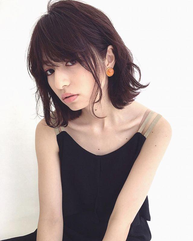 アッシュ系カラー 暗髪3