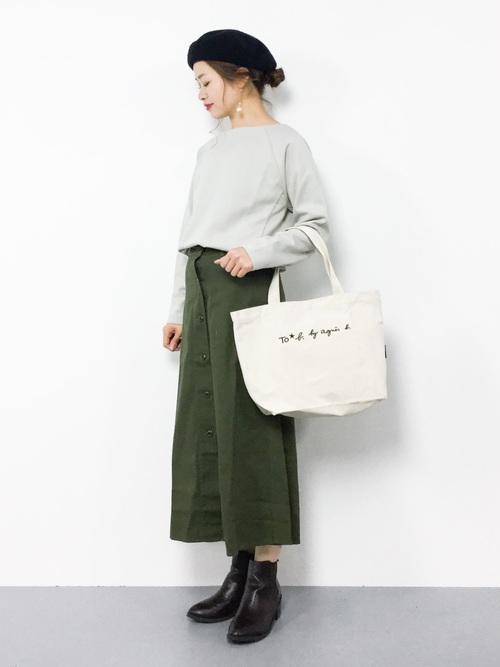 [agnes b.] WI03 SAC ロゴビッグトートバッグ