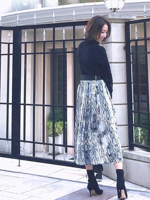 ZARAのスカート!アニマル柄を華麗に着こなそう♡3