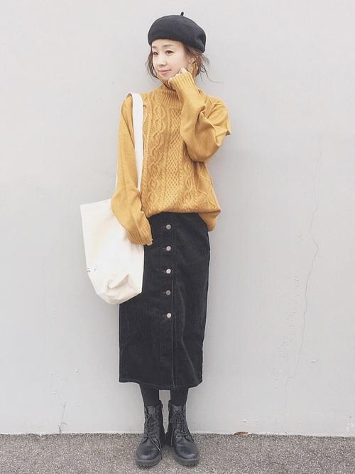 上下 GU スカート コーデ3