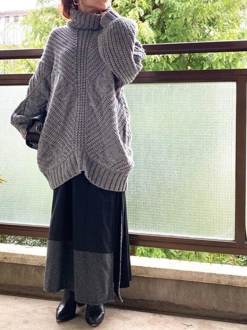 40代大人女子ファッション/スカートコーディネート17