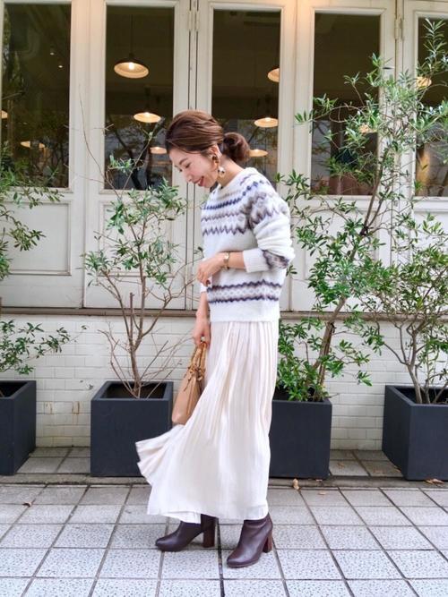 プリーツスカート 白 ホワイト2