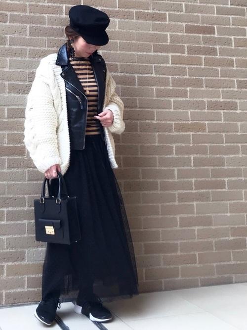 40代大人女子ファッション/スカートコーディネート22