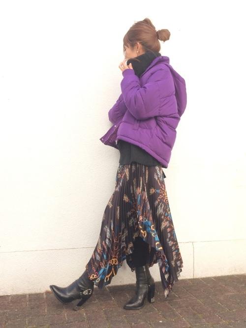 ZARAのスカート!プリーツで上品な装いを楽しもう♪2