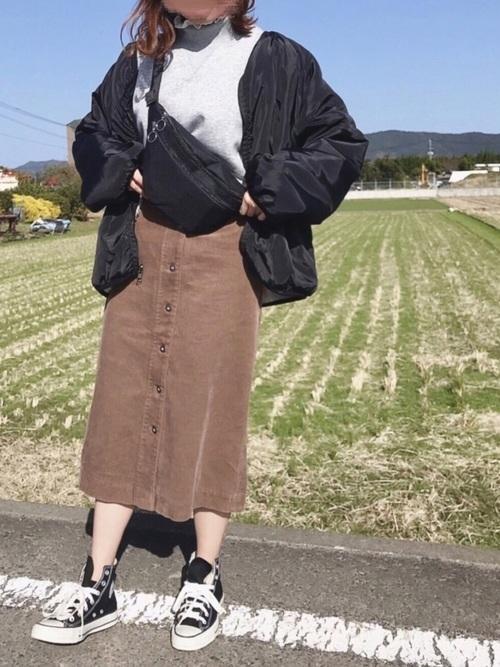 コーデュロイスカート2