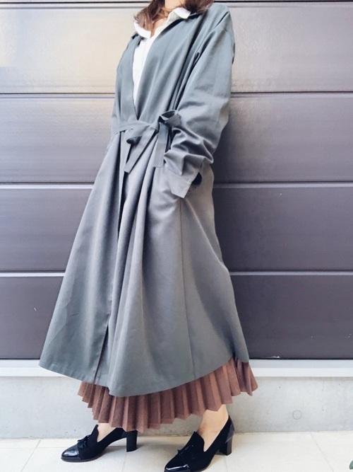 ZARAのスカート!プリーツで上品な装いを楽しもう♪15