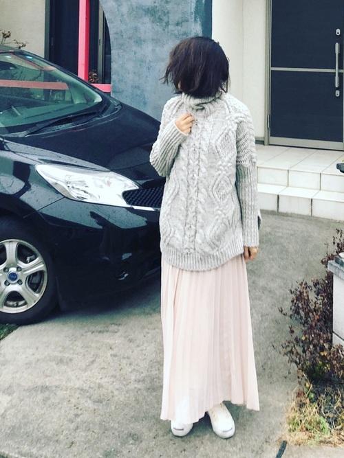 40代大人女子ファッション/スカートコーディネート15