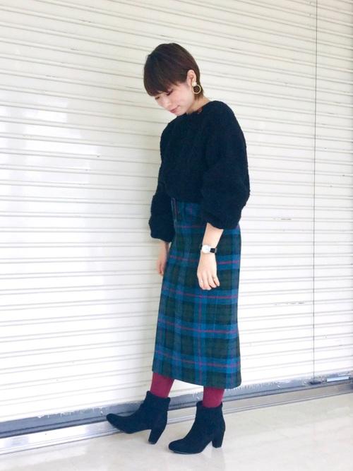 ZARAのスカート!タイトシルエットで知的な印象に15