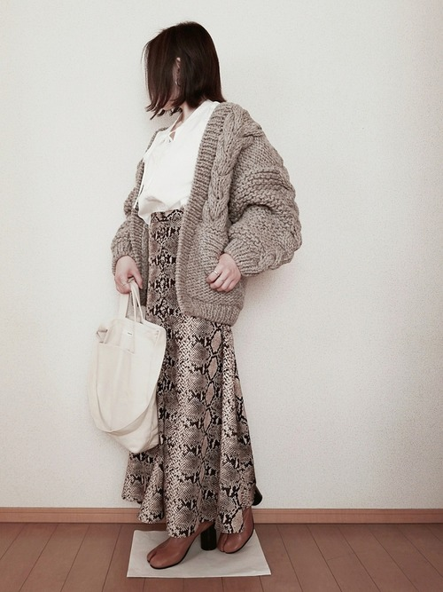 ZARAのスカート!アニマル柄を華麗に着こなそう♡7