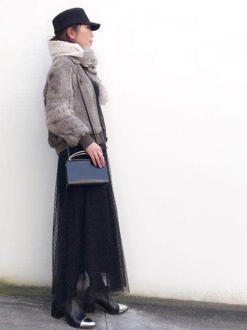 40代大人女子ファッション/スカートコーディネート4