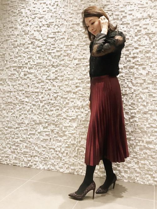 ZARAのスカート!プリーツで上品な装いを楽しもう♪14