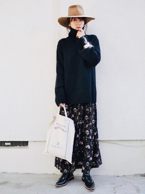 40代大人女子ファッション/スカートコーディネート14