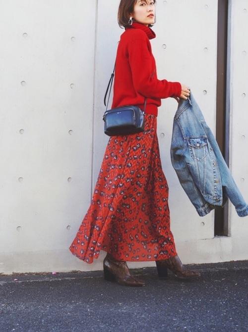 40代大人女子ファッション/スカートコーディネート