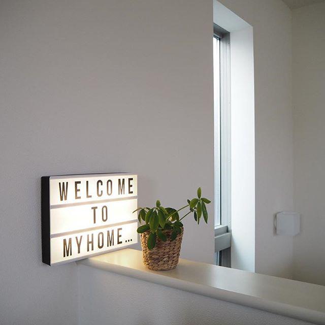 メッセージライト welcome to my home
