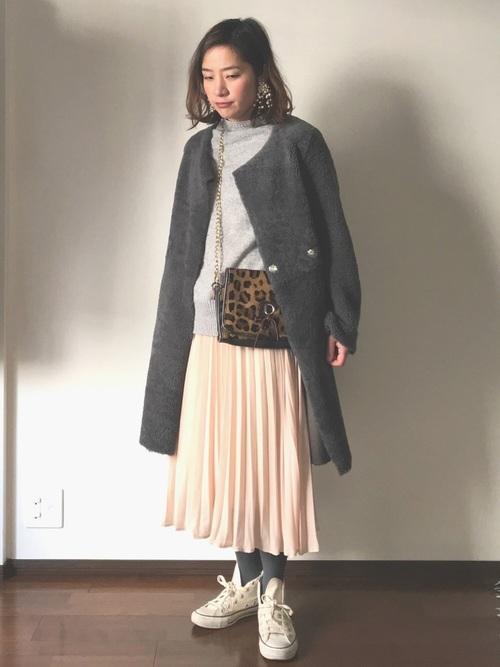 プチプラプリーツスカート GU