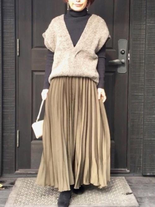 プチプラプリーツスカート GU3
