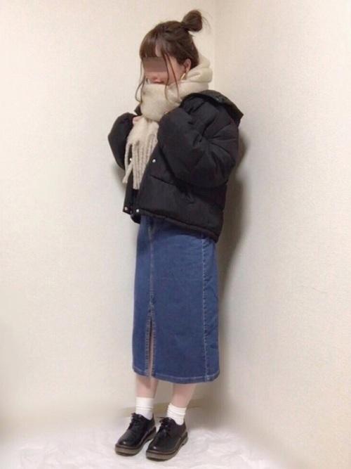 GUのスカートを使ったコーデ♪2